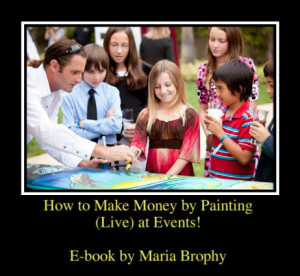 Make Money painting at Events Book Cover March 3 2013