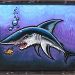 Shark Bait Painting by Drew Brophy 14 x 19 Nov 2009 RS