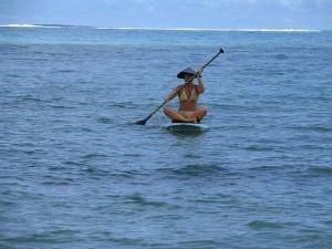Paddling in Samoa