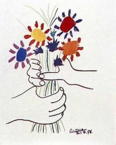 Picasso Mains Aux Fleurs