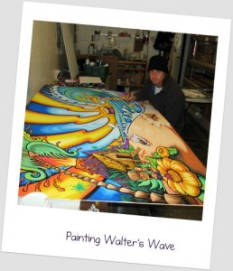 Painting Walters Wave 2009 Drew Brophy in Studio