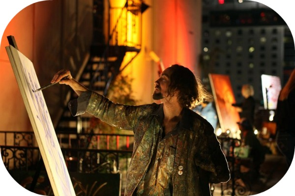 painting artist. From Live Painting Artist