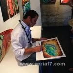 Drew Brophy Signing Prints at Art Show