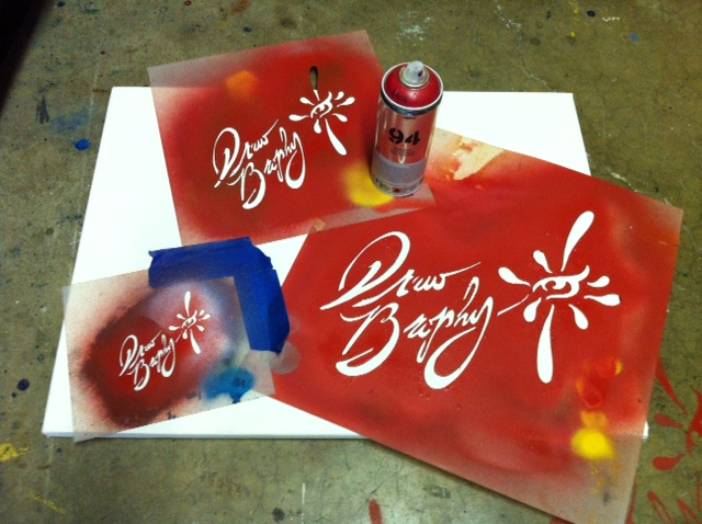 Drew Brophy Stencil Set signature and logo