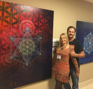 Maria and Drew Brophy Sacred Geometry Fine art